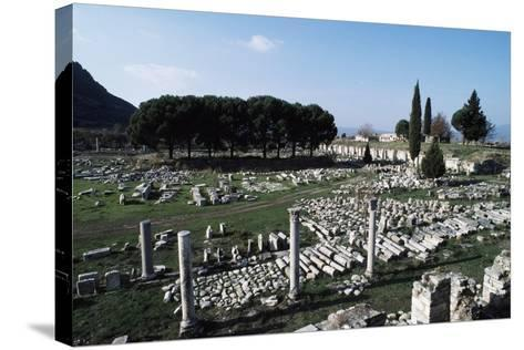 Lower or Commercial Agora, Ephesus, Turkey Ad--Stretched Canvas Print