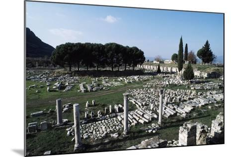 Lower or Commercial Agora, Ephesus, Turkey Ad--Mounted Giclee Print
