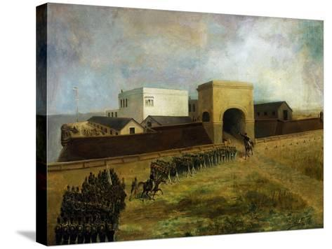 General Lavalle's Armed Forces Re-Entering Fort of Buenos Aires, December 1, 1828, Argentina--Stretched Canvas Print