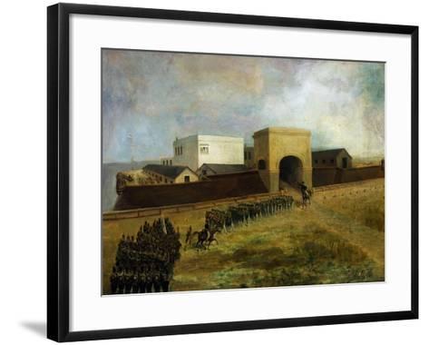 General Lavalle's Armed Forces Re-Entering Fort of Buenos Aires, December 1, 1828, Argentina--Framed Art Print