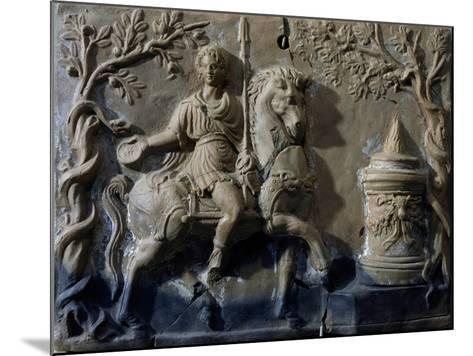 Terracotta Tablet with Relief Depicting Knight in Act of Making Offer--Mounted Giclee Print