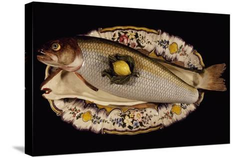 Fish Poacher with Tray and Lid, Porcelain, Nove Manufacture, Bassano, Veneto, Italy--Stretched Canvas Print