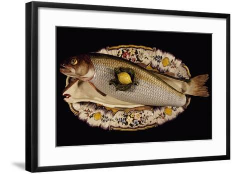 Fish Poacher with Tray and Lid, Porcelain, Nove Manufacture, Bassano, Veneto, Italy--Framed Art Print