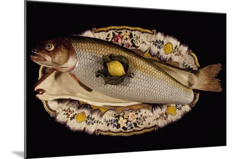 Fish Poacher with Tray and Lid, Porcelain, Nove Manufacture, Bassano, Veneto, Italy--Mounted Giclee Print