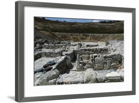 Theatre in Eraclea Minoa, Cattolica Eraclea, Sicily, Italy BC--Framed Art Print