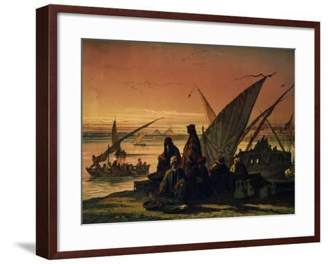 Camp Along Nile, Near Memphis, Egypt, 1858--Framed Art Print
