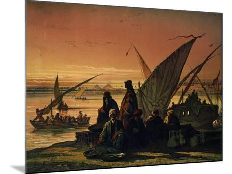 Camp Along Nile, Near Memphis, Egypt, 1858--Mounted Giclee Print
