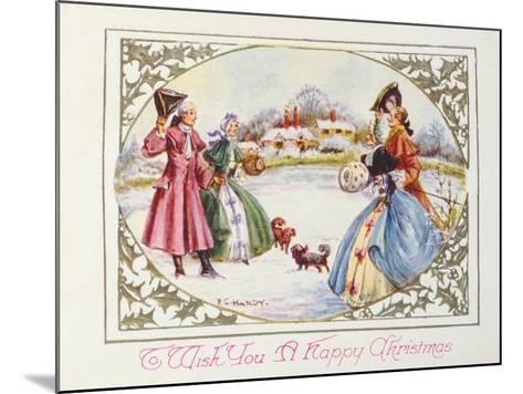 To Wish You a Happy Christmas, Victorian Card--Mounted Giclee Print