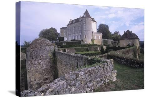 France, Aquitaine, Issac, Montreal Castle--Stretched Canvas Print