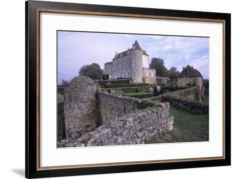 France, Aquitaine, Issac, Montreal Castle--Framed Art Print