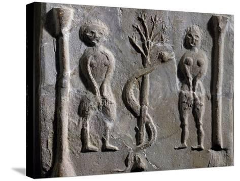 Adam and Eve, Relief from Sousse--Stretched Canvas Print