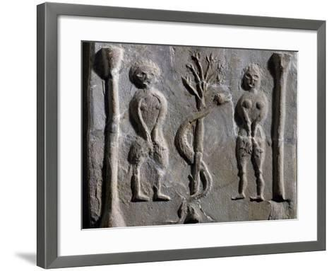 Adam and Eve, Relief from Sousse--Framed Art Print
