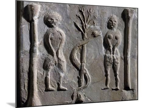 Adam and Eve, Relief from Sousse--Mounted Giclee Print