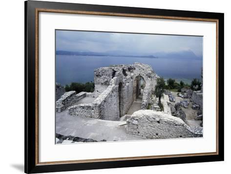 Grotto of Catullus, Roman Villa, Sirmione, Lombardy, Italy BC-1st Century AD--Framed Art Print