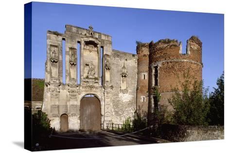 Ruins at Entrance of Nantouillet Castle, Ile-De-France. France, 16th Century--Stretched Canvas Print