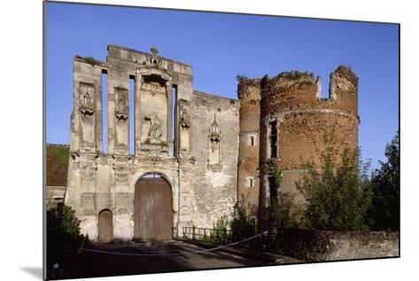 Ruins at Entrance of Nantouillet Castle, Ile-De-France. France, 16th Century--Mounted Giclee Print