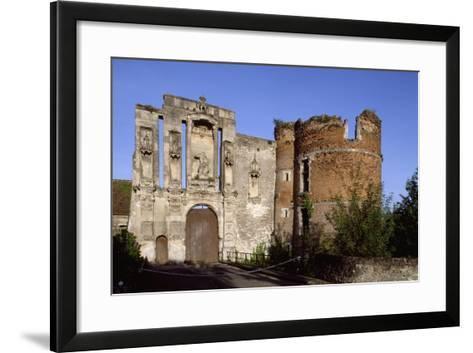 Ruins at Entrance of Nantouillet Castle, Ile-De-France. France, 16th Century--Framed Art Print