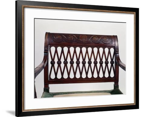 Large Directoire Style Armchair, France, Late 18th Century, Detail of Back--Framed Art Print