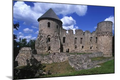 Latvia, Vidzeme, Cesis, Ruins of 14th Century Castle--Mounted Giclee Print