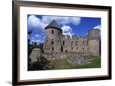 Latvia, Vidzeme, Cesis, Ruins of 14th Century Castle--Framed Art Print