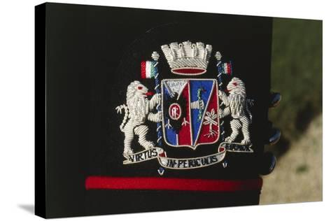 Italy, Corazzieri Emblem of the Regiment at Cuirassiers Gala--Stretched Canvas Print