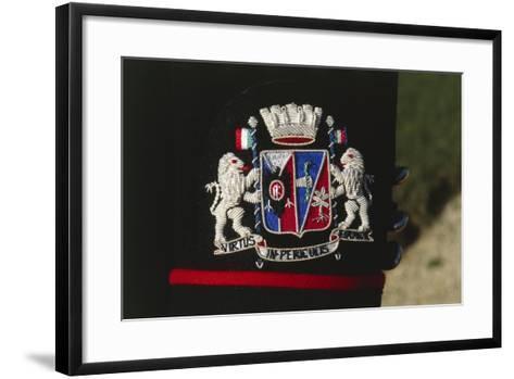 Italy, Corazzieri Emblem of the Regiment at Cuirassiers Gala--Framed Art Print