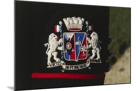 Italy, Corazzieri Emblem of the Regiment at Cuirassiers Gala--Mounted Giclee Print