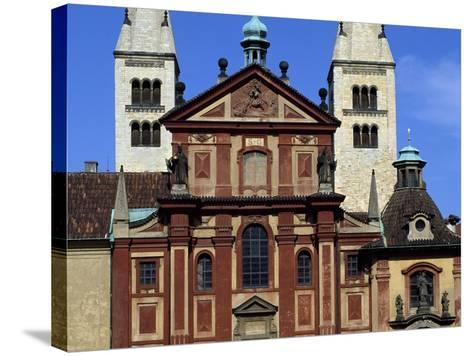Facade of Basilica of St. George, Prague Castle, Bohemia, Czech Republic--Stretched Canvas Print