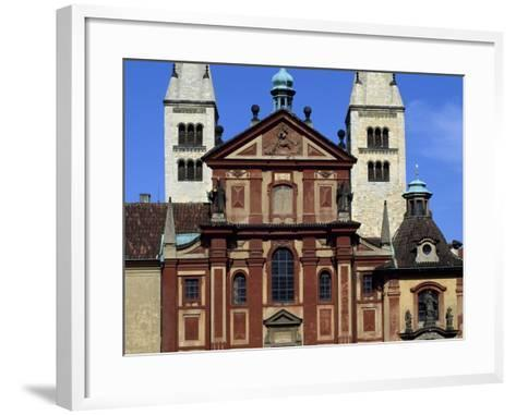 Facade of Basilica of St. George, Prague Castle, Bohemia, Czech Republic--Framed Art Print