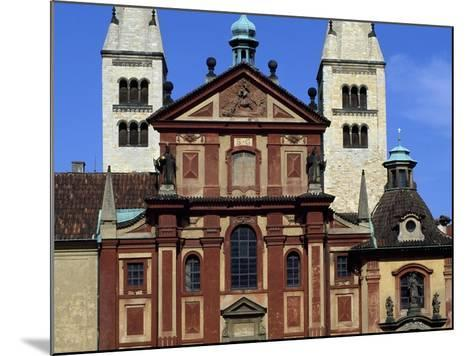 Facade of Basilica of St. George, Prague Castle, Bohemia, Czech Republic--Mounted Giclee Print