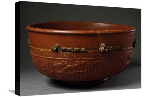 Terracotta Container from Imperial Age BC-5th Century AD--Stretched Canvas Print