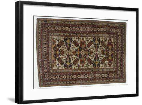 Rugs and Carpets: Azerbaijan - Zeichur Carpet--Framed Art Print
