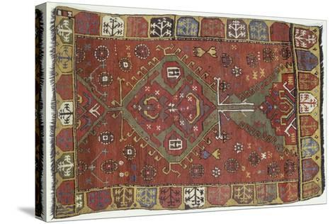 Rugs and Carpets: Turkey - Anatolia - Konya Carpet--Stretched Canvas Print