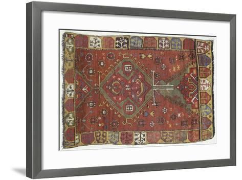 Rugs and Carpets: Turkey - Anatolia - Konya Carpet--Framed Art Print