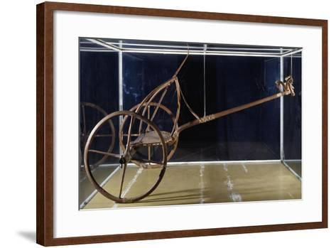 War or Hunting Chariot in Bone and Wood, from Thebes BC--Framed Art Print