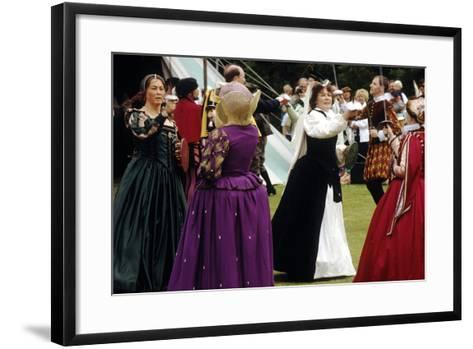 Tudor Period Dancing, Late 16th Century Historical Re-Enactment--Framed Art Print