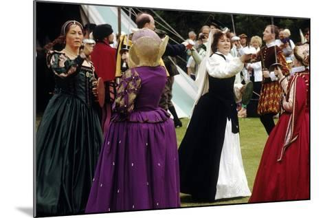 Tudor Period Dancing, Late 16th Century Historical Re-Enactment--Mounted Giclee Print