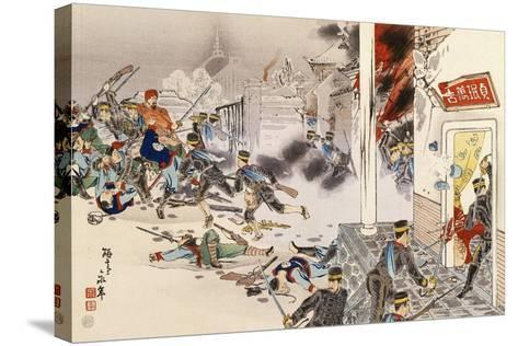 Battle of Nwe-Chan, 1895, First Sino-Japanese War, China--Stretched Canvas Print