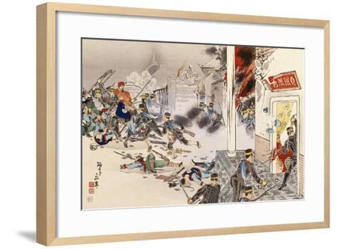 Battle of Nwe-Chan, 1895, First Sino-Japanese War, China--Framed Art Print