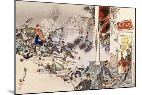 Battle of Nwe-Chan, 1895, First Sino-Japanese War, China--Mounted Giclee Print