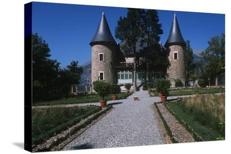 France, Provence-Alpes-Côte D'Azur, Hautes-Alpes, Embrun, Picomtal Castle--Stretched Canvas Print