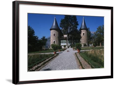 France, Provence-Alpes-Côte D'Azur, Hautes-Alpes, Embrun, Picomtal Castle--Framed Art Print