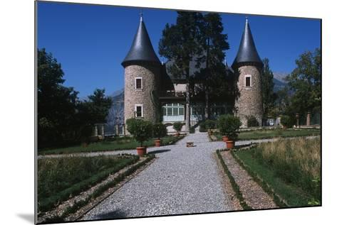 France, Provence-Alpes-Côte D'Azur, Hautes-Alpes, Embrun, Picomtal Castle--Mounted Giclee Print
