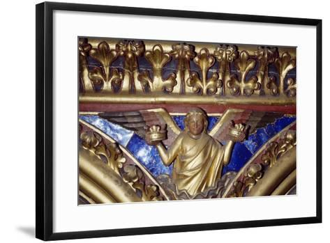 Angel, Wooden Relief from the Upper Chapel of the Holy Chapel, Paris, Ile-De-France, France--Framed Art Print
