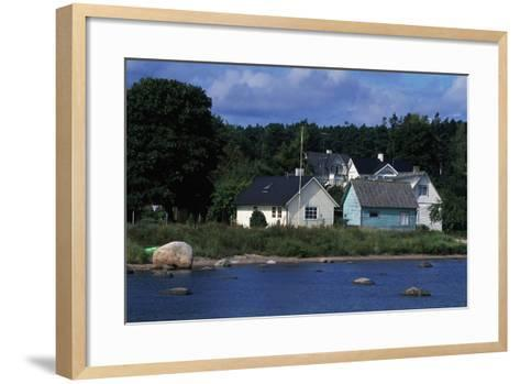 Typical Houses, Kasmu, Laane-Viru County, Estonia--Framed Art Print