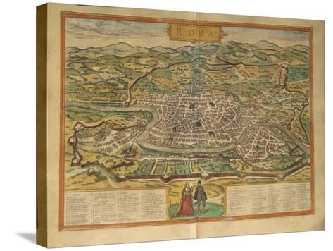 Map of Rome from Civitates Orbis Terrarum--Stretched Canvas Print