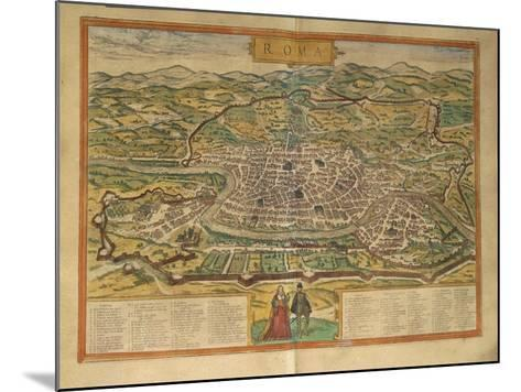 Map of Rome from Civitates Orbis Terrarum--Mounted Giclee Print