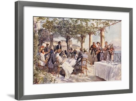 Restaurant Musicians, 1933, Italy--Framed Art Print