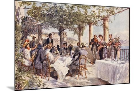 Restaurant Musicians, 1933, Italy--Mounted Giclee Print