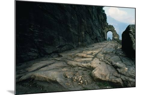 Section of Roman Road and Arch Carved into the Rock, Donnas, Valle D' Aosta, Italy--Mounted Giclee Print